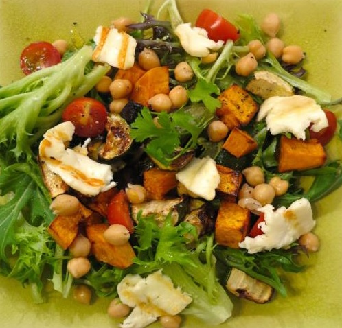 Fertility Food Revolution _ Chickpea and goatcheese salad