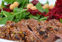 protein and vegetables help to stabalise blood sugar