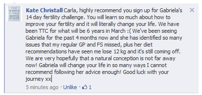 Carla, highly recommend you sign up for Gabriela's 14 day fertility challenge.