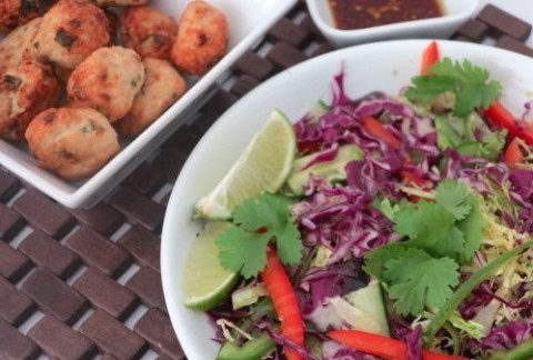 Thai Chicken Meatballs and Asian Slaw_Fertility Food Revolution_thumb