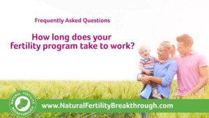 How long does your Natural Fertility Breakthrough Program take to work
